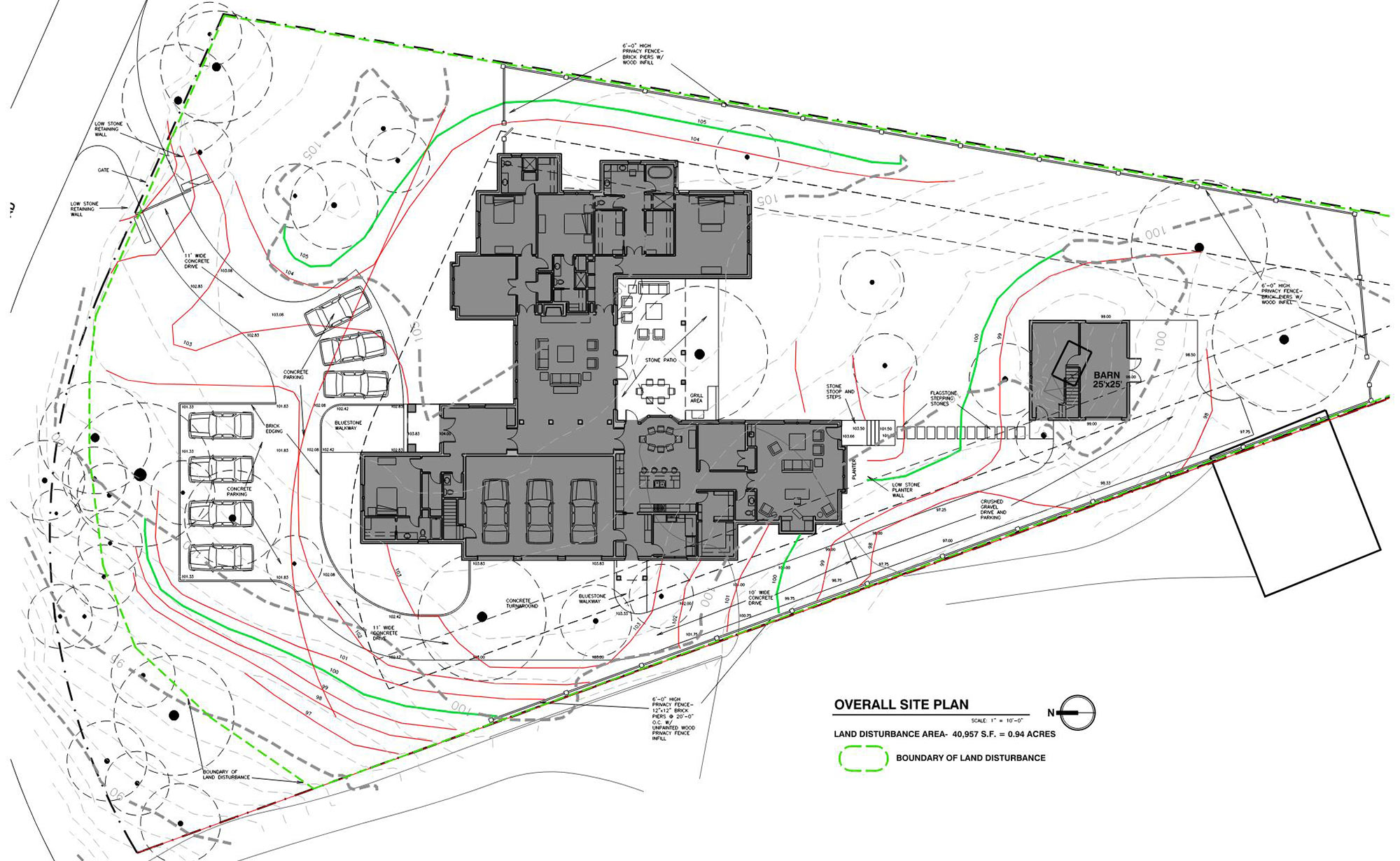 Site Plan for New Private Residence in Birmingham, AL