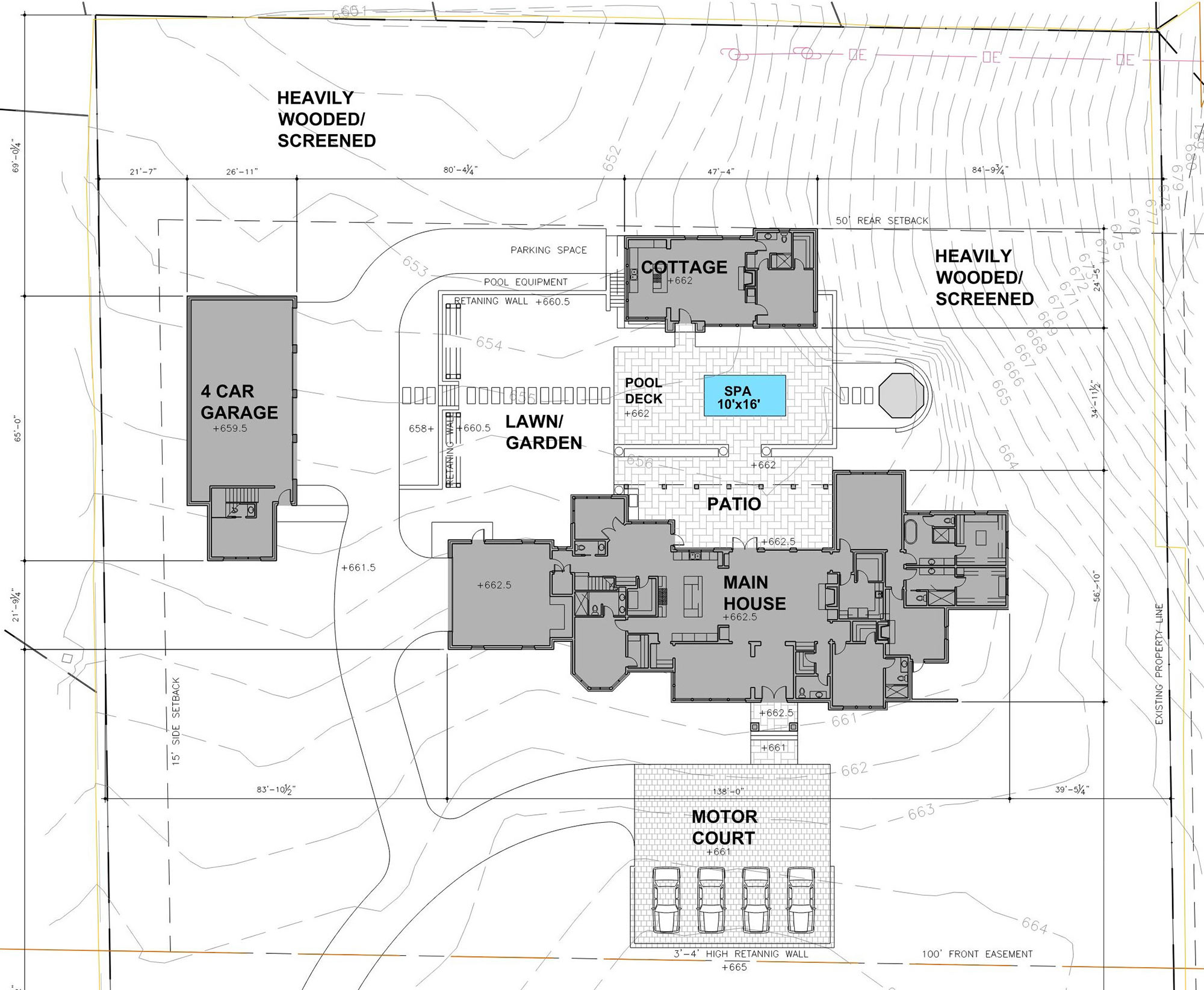 Site Plan for New Birmingham, AL Private Residence