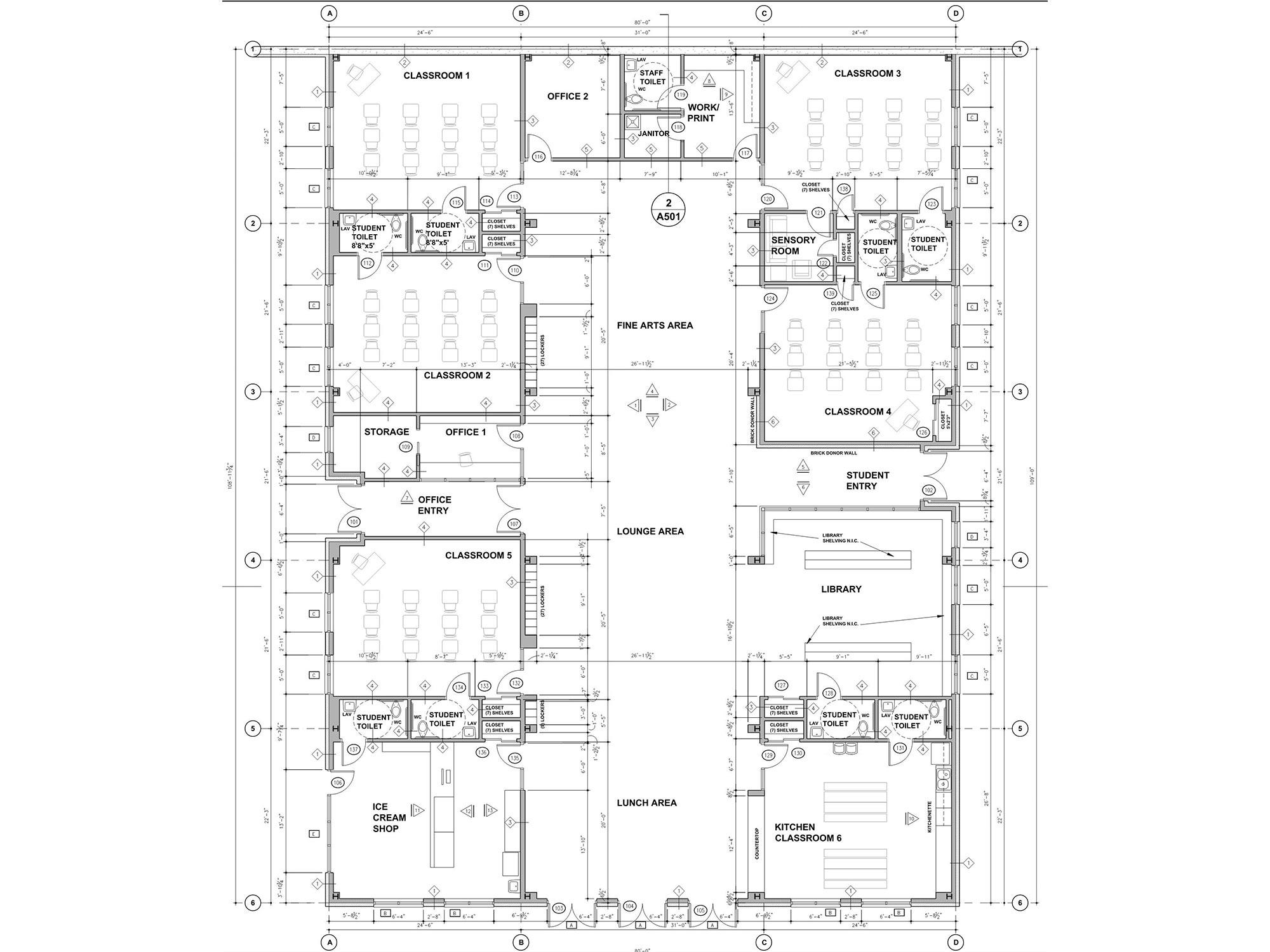 Unless U's New School Building's Floor Plan